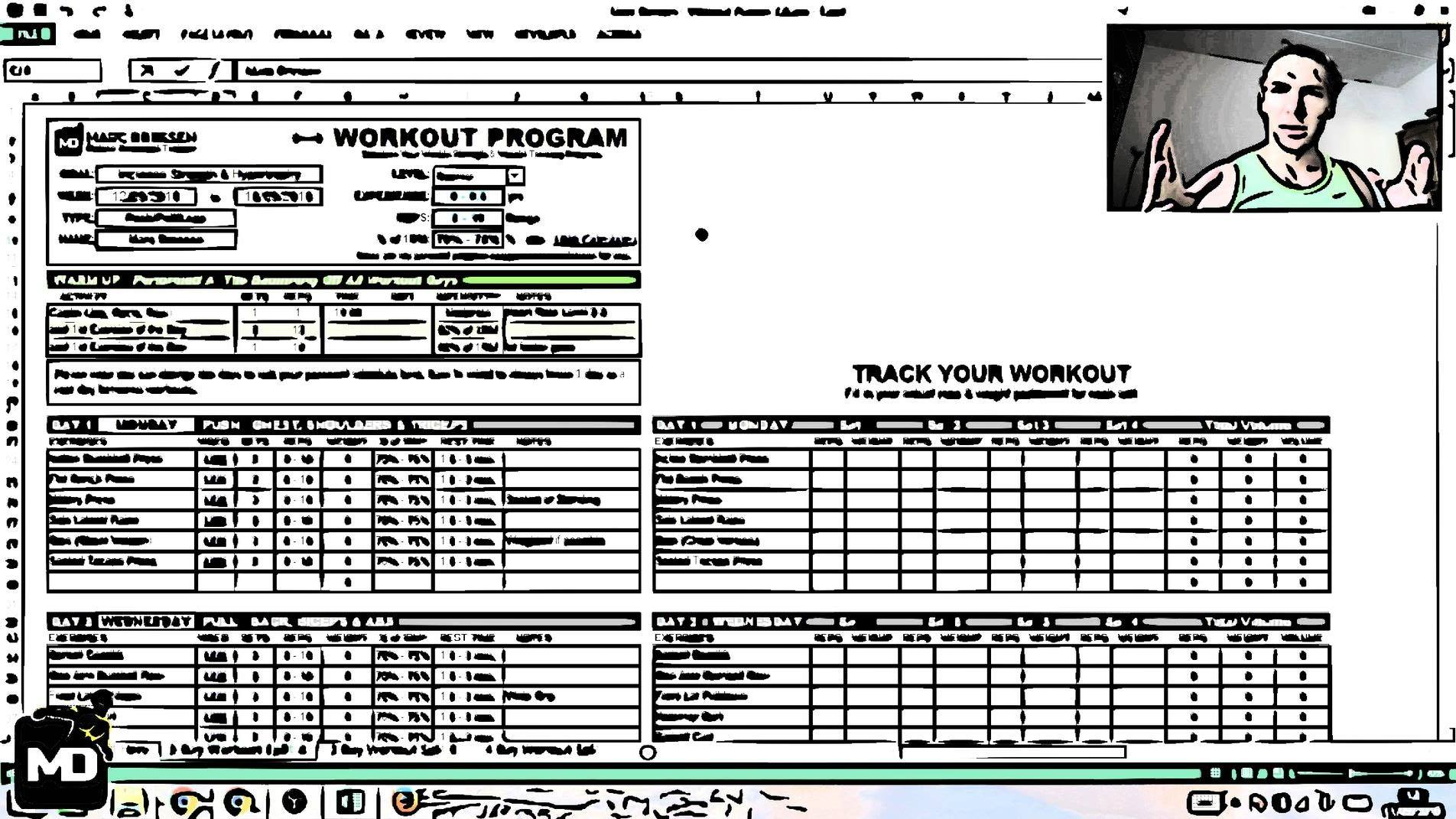 Muscle Workout Planner 48